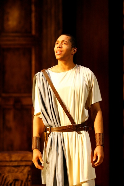 Keith Eric Chappelle as Ion in the Shakespeare Theatre Company's production of Ion, directed by Ethan McSweeny. Photo by Carol Rosegg.
