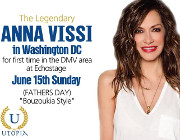 Utopia Presents The Legendary ANNA VISSI Live in Washington, DC at Echostage on Sunday June 15, 2014!  Reserved Table, Couch, and General Admission Tickets now on sale via DCGreeks.com! Click here for details!
