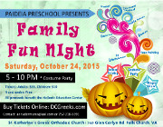 St. Katherine Paideia Bilingual Preschool and Nursery proudly invites you to its Family Fun NIght on Saturday, 10/24/15 at 5:00 PM at the Meletis-Charuhas Center in Falls Church, VA. Tickets are on sale now at DCGreeks.com with no service charge! Click here for details!