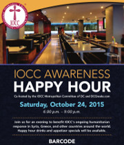 The IOCC Metropolitan Committee of DC and DCGreeks.com invite you to an IOCC Awareness Happy Hour on Saturday, 10/24/2015 at Barcode in Washington, DC. Join us for an evening to benefit IOCC's ongoing humanitarian response in Syria, Greece, and other countries around the world. Click here for details!