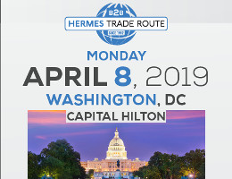 Hermes Expo 2019, the premier International Trade Show and Exhibition for Greek, Greek American, and American businesses and professional services, will hold its first ever Hermes Trade Route in Washington, DC on Monday, 4/8/19, at the Captial Hilton. Click here for details!