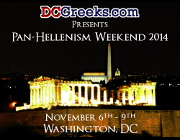 DCGreeks.com, in association with local and national Hellenic organizations, invites Greek-American young adults from across the country to our Nation's Capital from November 6-9, 2014 for Pan-Hellenism Weekend 2014, featuring two Happy Hours, two Greek Nights, and Saturday Late Night Bouzoukia.  Click here for details!