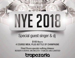Greek New Year's Eve 2018 Celebration at Trapezaria in Rockville, MD, featuring a live performance by special guest singer straight from Cyprus, Nicos 'Aloha' Christodoulides, Sunday December 31, 2017 starting at 9:00 PM. Click here for details!