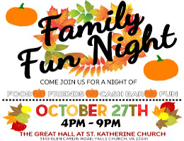 St. Katherine Paideia Bilingual Preschool and Nursery proudly invites you to its Family Fun Night 2018 on Saturday, 10/29/18 at 4:00 PM at the Meletis Charuhas Center in Falls Church, VA. Tickets are on sale now at DCGreeks.com with no service charge! Click here for details!
