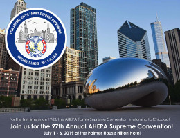 Join the AHEPA family from July 1-6, 2019 at the Palmer House Hilton Hotel in Chicago, IL for the 97th AHEPA Family Supreme Convention! Click here for details!