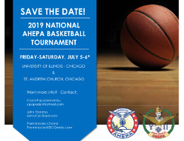 The 2019 AHEPA National Basketball Tournament is taking place on July 5-6, 2019 in Chicago, IL. Teams will compete in a Sons/HS division (ages 14 – 18) and an AHEPA/Collegiate division (ages 18+).  Click here for details!