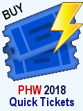 Purchase PHW 2018 Single Event Tickets for Individuals or Groups
